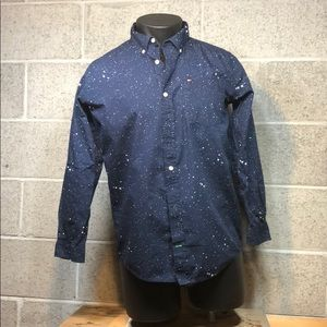 Boys Tommy Hilfiger Long Sleeve Blue Button XL